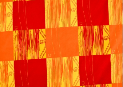 Bavlněné povlečení LUX Červenooranžová kostka