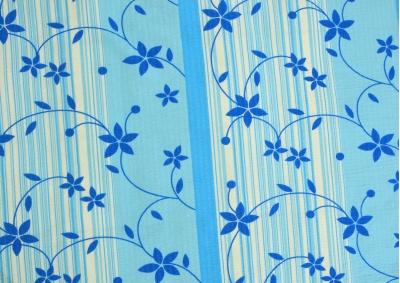 Krepové povlečení LUX Modré kvítky