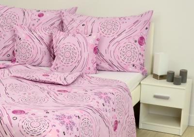 Bavlněné povlečení LUX  Růžová kolečka