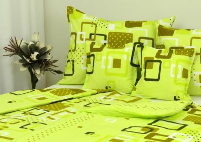 Ložní povlečení bavlna LUX Zelenobílé kostky