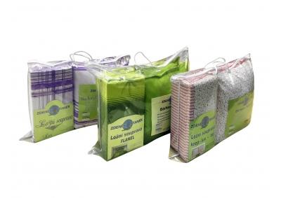 8-dílné povlečení s polštářky Žluto-šedivo-zelenkavé vlnky (bavlna medium)
