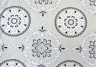 8-dílné povlečení s polštářky Šedivá mandala (bavlna medium)
