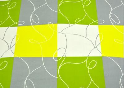 Bavlněné povlečení LUX Zelená šachovnice s šedivou kostkou