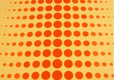Bavlněné povlečení LUX Planety na oranžovém podkladu