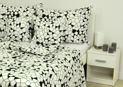Bavlněné povlečení LUX Černobílá mozaika