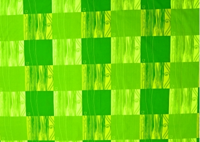 Zelená kostka bavlna lux  metráž