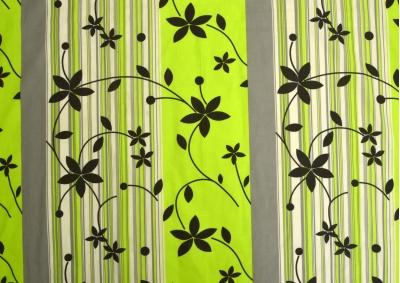 Zeleno šedivé kvítky bavlna lux metráž