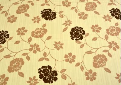 Hnědá květina bavlna lux metráž