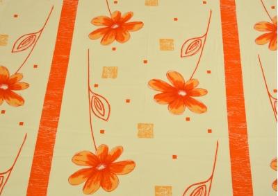 Oranžová květina bavlna lux metráž