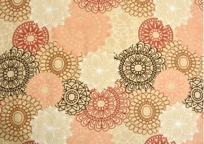 Lososové ornamenty bavlna lux metráž