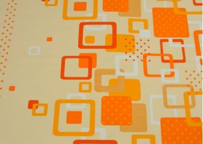Oranžovo bílé kostky bavlna lux metráž