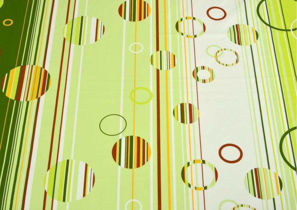 Zelená kolečka bavlna lux metráž