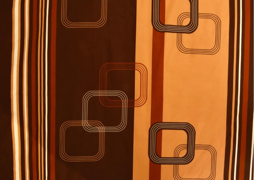 Tmavě hnědé obdélníky bavlna lux metráž