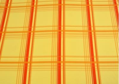 Oranžový proužek bavlna lux metráž