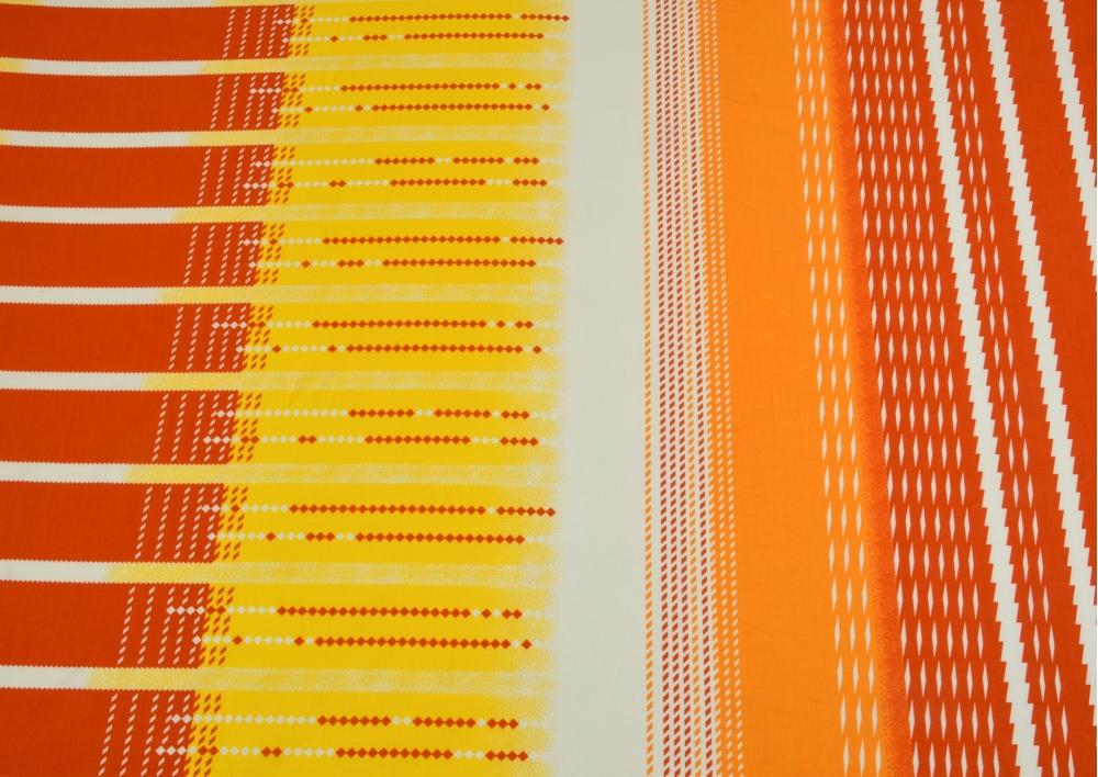 Oranžovožluté snění bavlna lux metráž