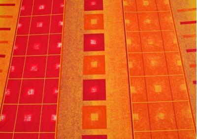 Oranžový quartex bavlna lux metráž