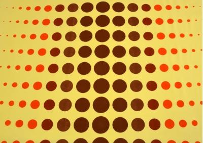 Planety na žlutém podkladu bavlna lux metráž