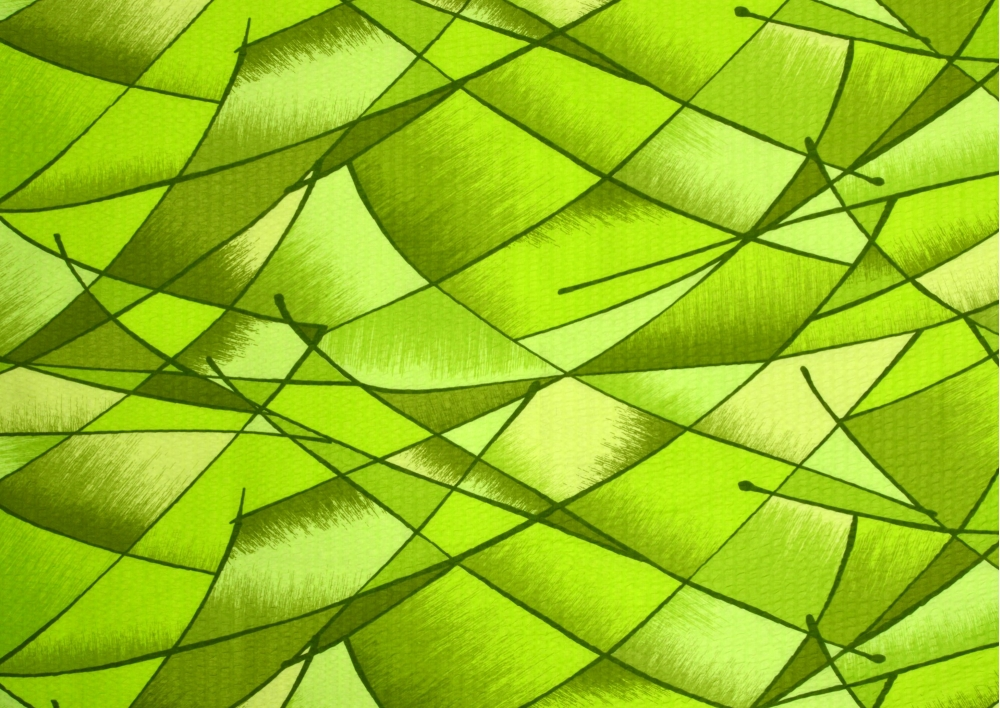 Zelená duha krep lux metráž