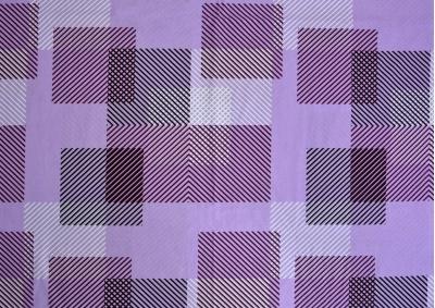Bavlněné povlečení LUX Proužkované kostky fialové