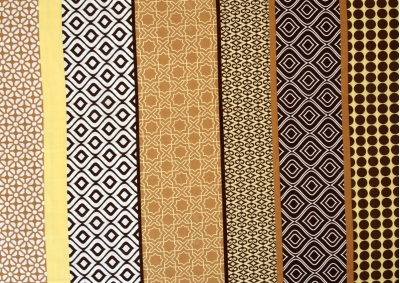 8-dílné povlečení s polštářky Hnědý orient (bavlna medium)