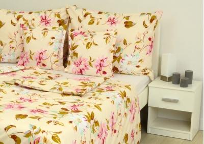 8-dílné povlečení s polštářky Květy Klematisu (bavlna medium)