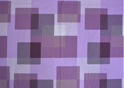 Proužkované kostky fialové bavlna lux metráž