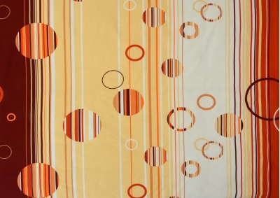 Oranžová kolečka bavlna lux metráž