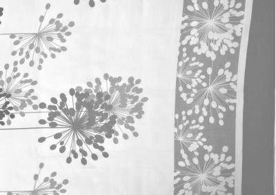 Bavlněný satén Bílá s šedivým paprskem