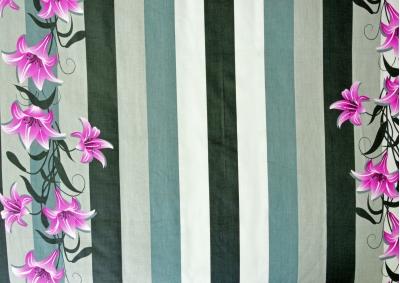 Bavlněný satén Fialová lilie