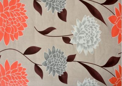 8-dílné povlečení s polštářky Oranžové květy velké (bavlna medium)