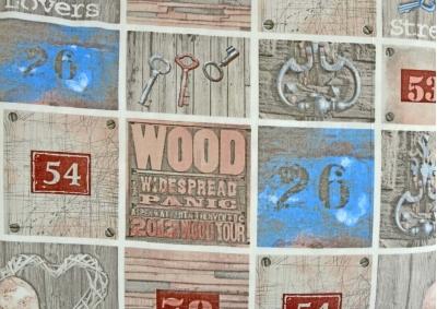 8-dílné povlečení s polštářky Srdíčka a klíče s modrým čtvercem (bavlna medium)