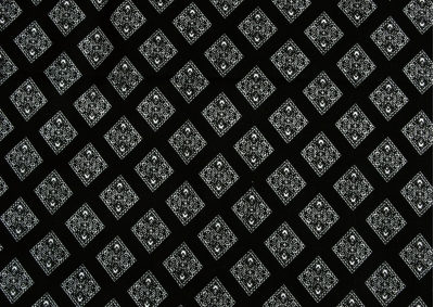 Oboustranná černobílá kombinace ( na černém podkladu ) bavlna  metráž