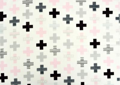 Růžové plus bavlna  metráž
