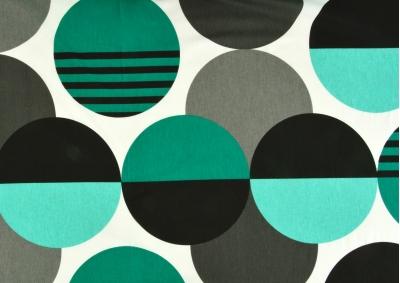 Zeleno černá kola bavlna  metráž