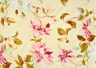 Květy klematisu bavlna  metráž