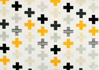 8-dílné povlečení s polštářky Žluté plus (bavlna medium)