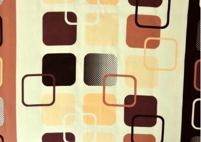 8-dílné povlečení s polštářky Tmavě hnědé kostky  ( Satén )