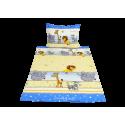 Lvíček se zvířátky s modrým pruhem (dětská bavlna)