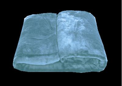 Mikroplyšová deka - Světle modrá