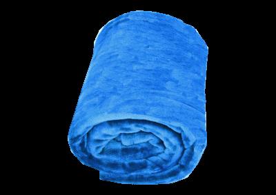 Mikroplyšová deka - Královská modrá