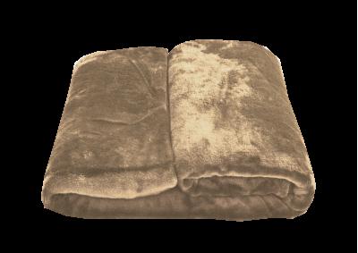 Mikroplyšová deka - Světle hnědá