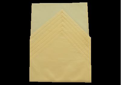 Ubrus 125x135 cm + 6ks prostírání (úzký proužek žlutý)