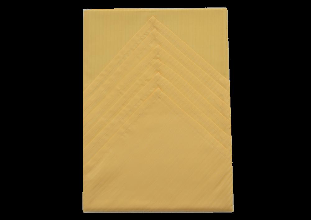 Ubrus 125x135 cm + 6ks prostírání (tm. žlutý úzký proužek)
