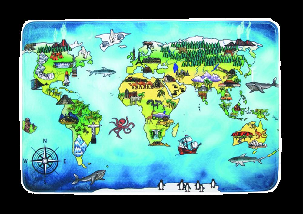 Dětské - mapa světa (world map)