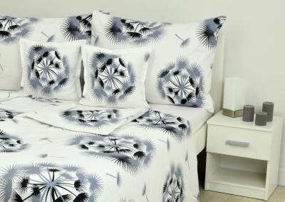 8-dílné povlečení s polštářky Černošedé chmýří  (bavlna LUX)