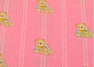 Růžový méďa  II. Jakost (dětský krep) metráž