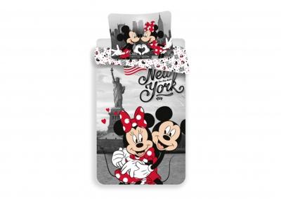 Bavlněné povlečení Mickey a Minie v New Yorku 140x200