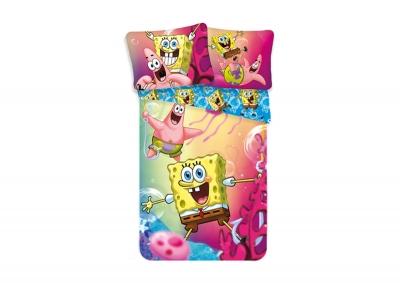 Bavlněné povlečení Sponge Bob Blue 140x200
