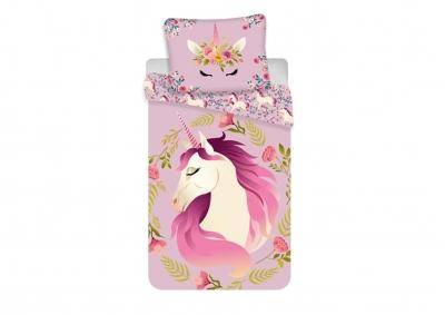 Bavlněné povlečení Unicorn Flowers 140x200