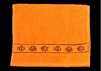 Froté ručník - KIDS oranžový  s bordurou 30x50cm
